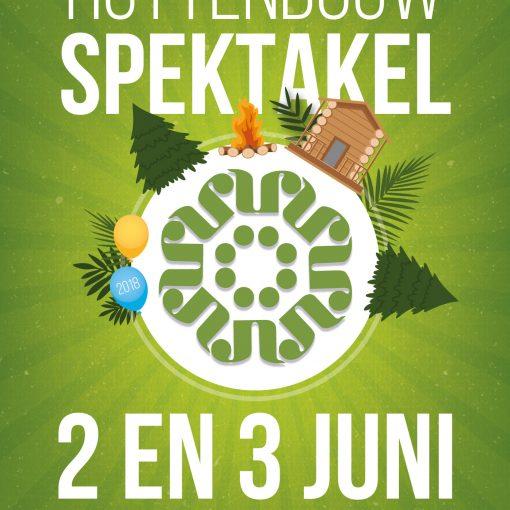 Huttenbouwspektakel 2 en 3 juni 2018